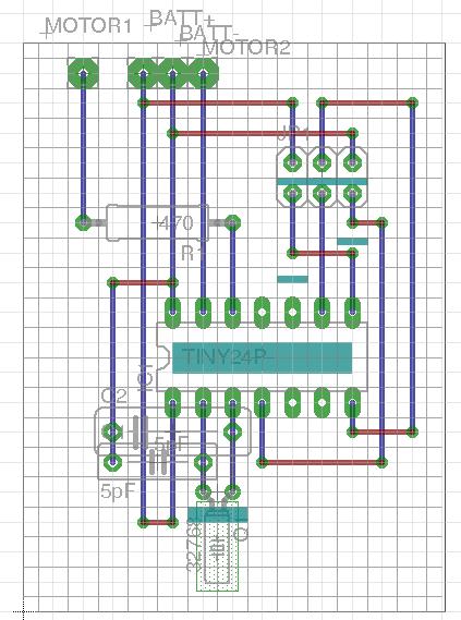 Veroboard layout